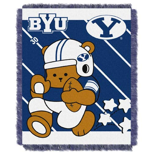 Brigham Young Jacquard BABY Throw Blanket