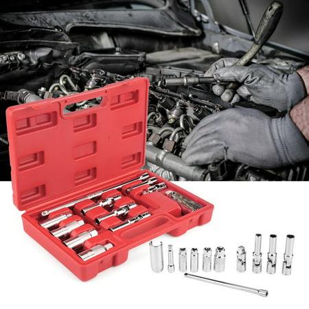 Spark Plug Socket Set (Yosoo 11Pcs 3/8inch Spark Glow Plug Socket Petrol Diesel Removal/Install Spark Plug Tool Set Spark Plug Repair Tool)