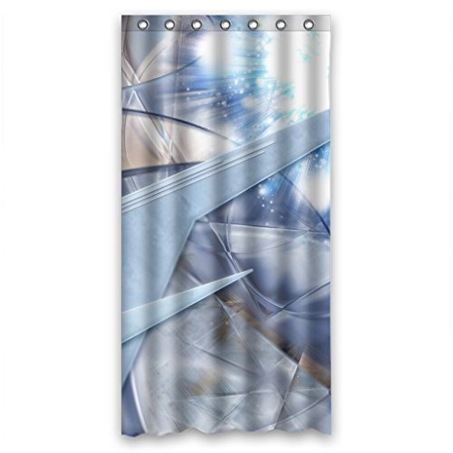 MOHome Three Dimensional Space Shower Curtain Waterproof Polyester Fabric Shower  Curtain Size 36x72 Inches
