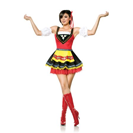 Swedish Sweetie Sexy Bar Maid Oktoberfest Hunny Womens Halloween Costume