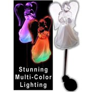Color Changing Solar Powered Angel Lights Garden Stakes Yard Decor Set of 2