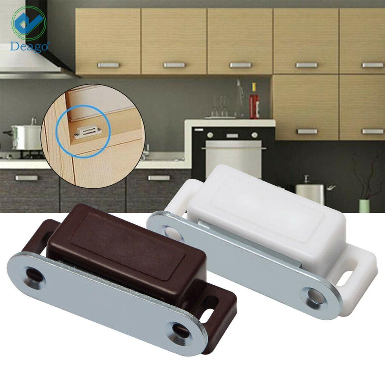 Deago Magnetic Cabinet Door Latch Catch Closures Shutter Magnets Self Aligning White Pack Of 20 Walmart Com Walmart Com