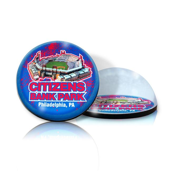 Paragon Innovations CitizensBankMAG Crystal magnet with Citizens Bank Park image  giving a magnifying effect-MLB