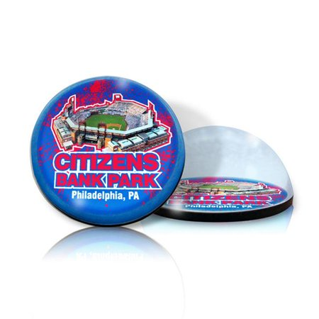 Paragon Innovations Citizensbankmag Crystal Magnet With Citizens Bank Park Image  Giving A Magnifying Effect Mlb