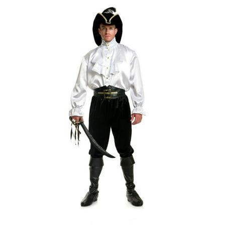 Halloween Men's Pirate Captain Shirt - White](Gay Halloween Sf)