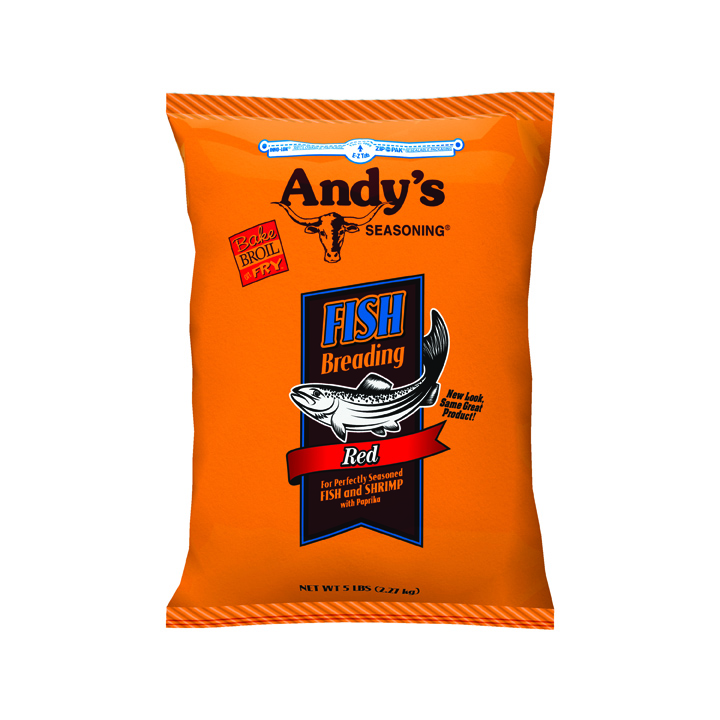 Andy's Seasoning Red Fish Breading, 5 lb (Pack of 6)