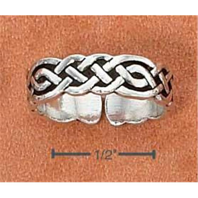 Sterling Silver Celtic Weave Toe Ring - Size: 7