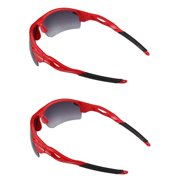"""""""The Athlete"""" 2 Pair of Precision Sport Wrap Bifocal Sunglasses - Reading Sunglasses for Men and Women - Red - 2.50"""