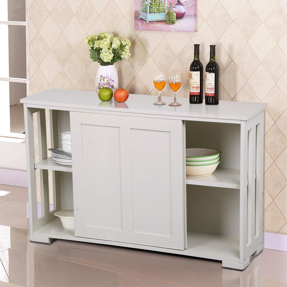 kitchen buffet storage cabinet yaheetech antique white stackable sideboard buffet storage 5138