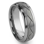Titanium Kay Tungsten Carbide Diamond Cut Groove Newport Comfort Fit Mens Wedding Band Ring Sz 10.0