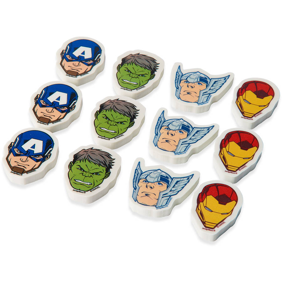 Avengers Party Favor Erasers,12ct