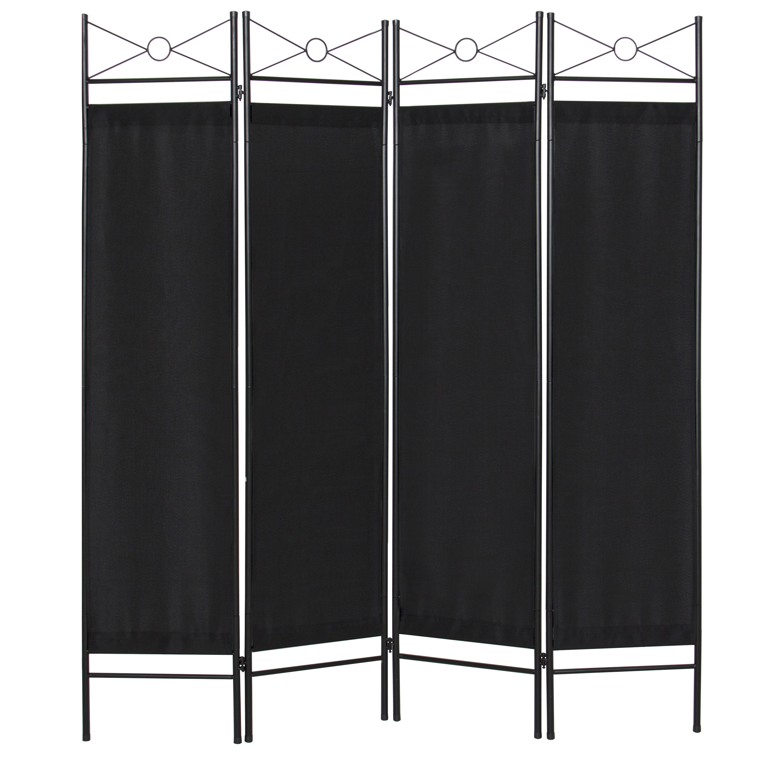 Best Choice Products Home Accents 4 Panel Room Divider-Black by Best Choice Products