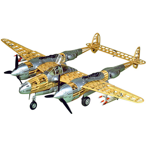 Guillow's Lockheed P-38 Lightning Model Kit by Paul K Guillow Inc
