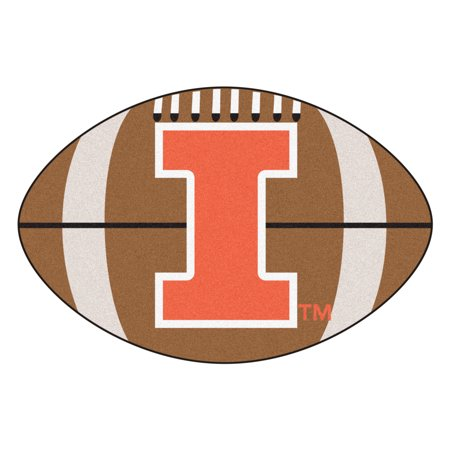 NCAA University of Illinois Fighting Illini Football Shaped Mat Area