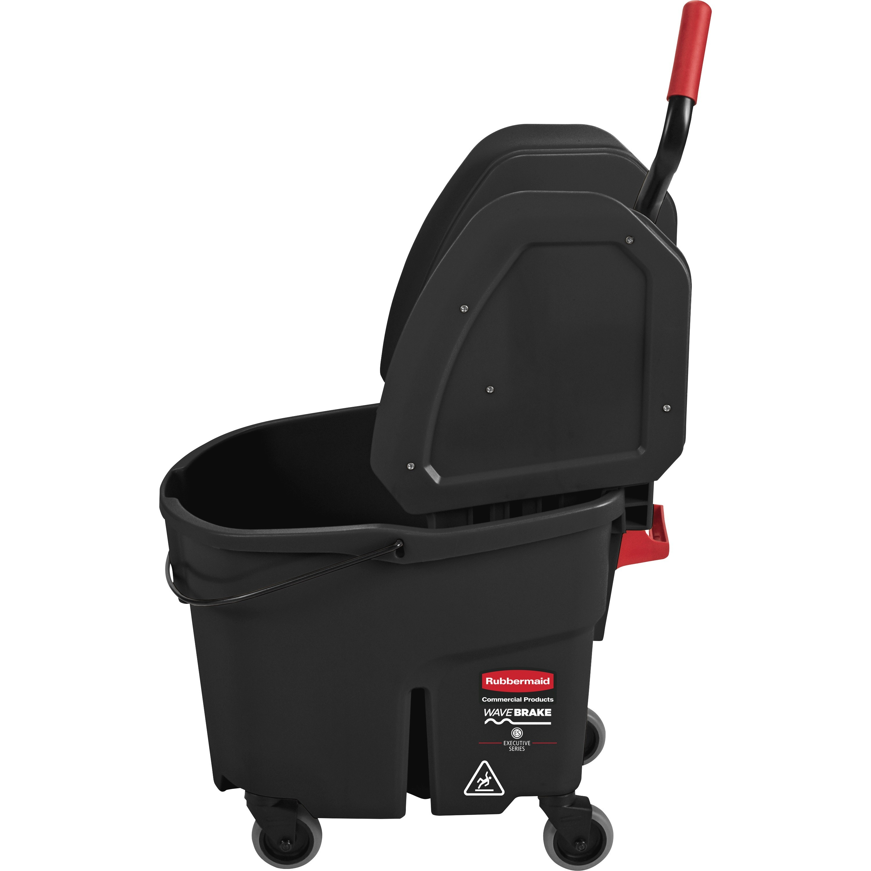 Rubbermaid Commercial, RCP1863898, WaveBrake Down Press Mop Bucket, 1 Carton, Black