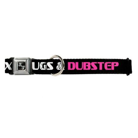 Dubstep Electronic Dance Music On Black Fun Animal Seatbelt Pet Collar