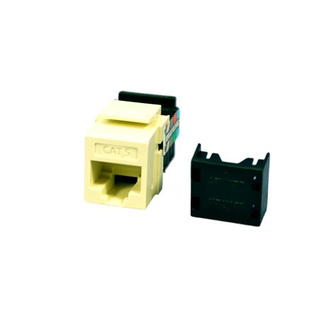 - Leviton 40838-BA Quickport Category 5 Jack Snap-In Module, Almond