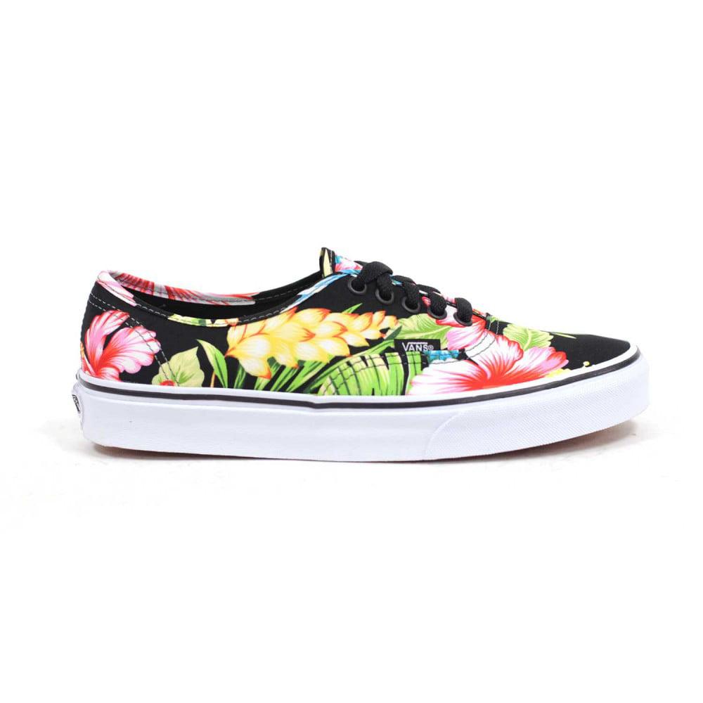 68b37c8deb Vans - Vans Unisex Authentic Hawaiian Floral Skate Shoes-Hawaiian Floral  Black - Walmart.com