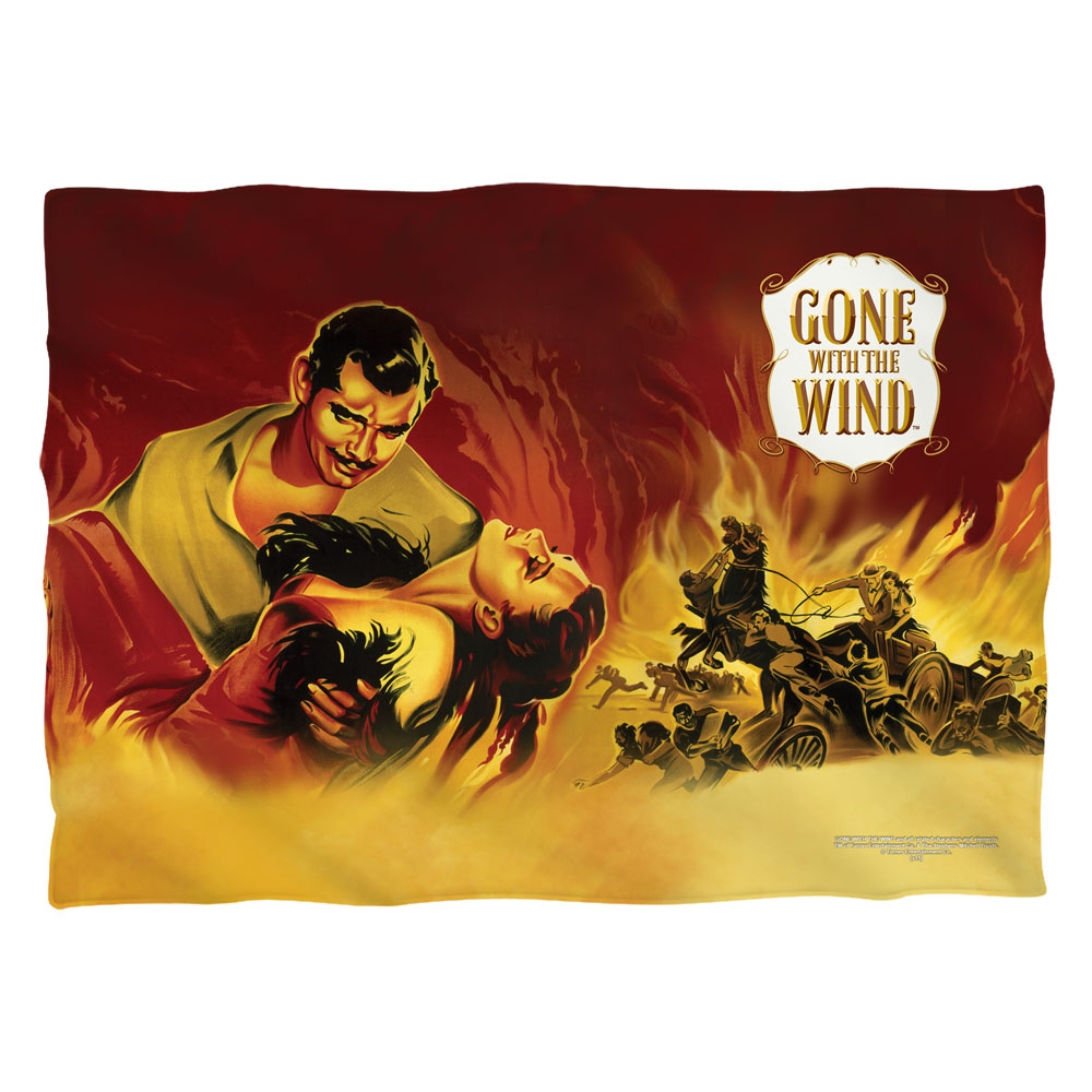 Gone With The Wind Fire Poster Poly 20X28 Pillow Case White One Size