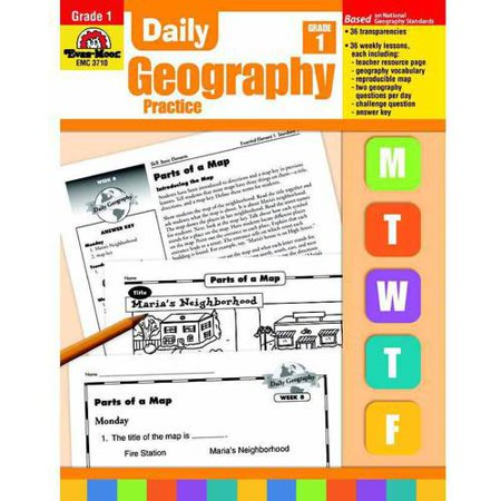Evan-Moor Daily Geography Practice Book, Multiple Grades