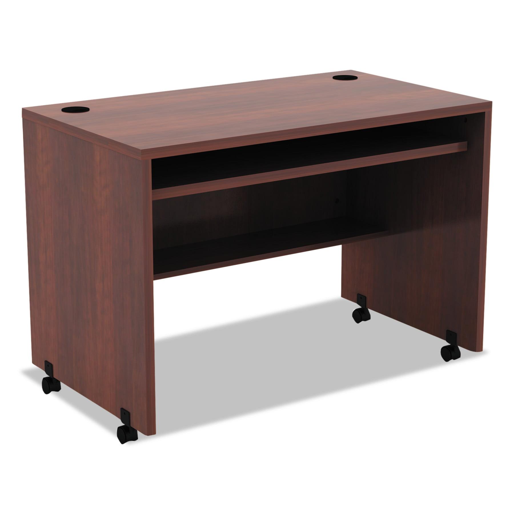 Alera Valencia Mobile Workstation Desk, 41 3/8 x 23 5/8 x 29 7/8, Med Cherry