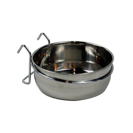 Bergan 88449 Pet Kennel Bowl, Stainless Steel, 4-Cups