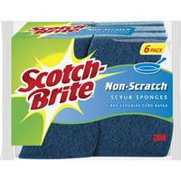 Scotch-Brite, MMM5265, Non-Scratch Scrub Sponges, 6 / Pack, Blue