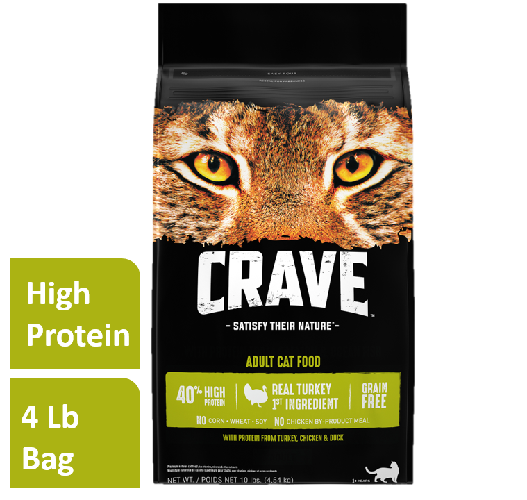 Crave Grain-Free Turkey, Chicken, & Duck Dry Cat Food (Various Sizes)
