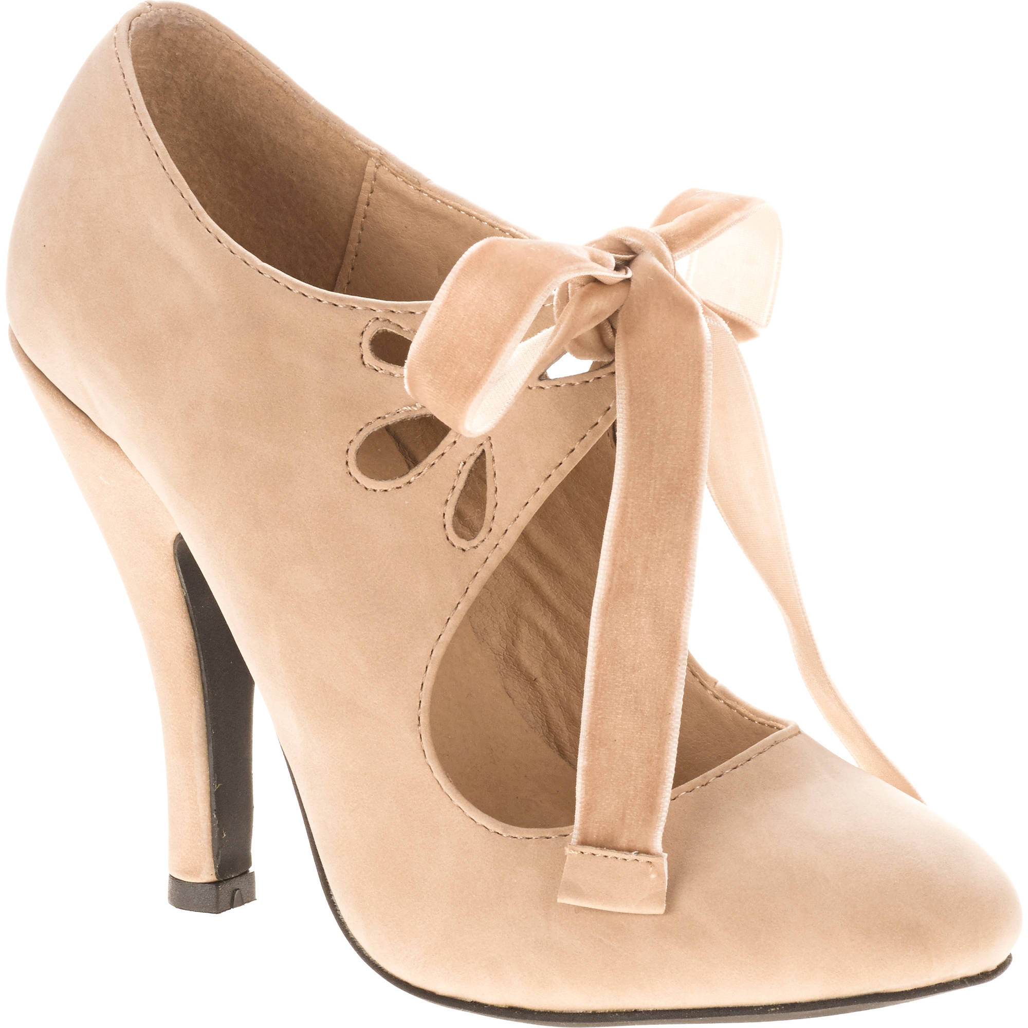 Mo Mo Women's Halo Mary Jane Pump with Velvet Bow