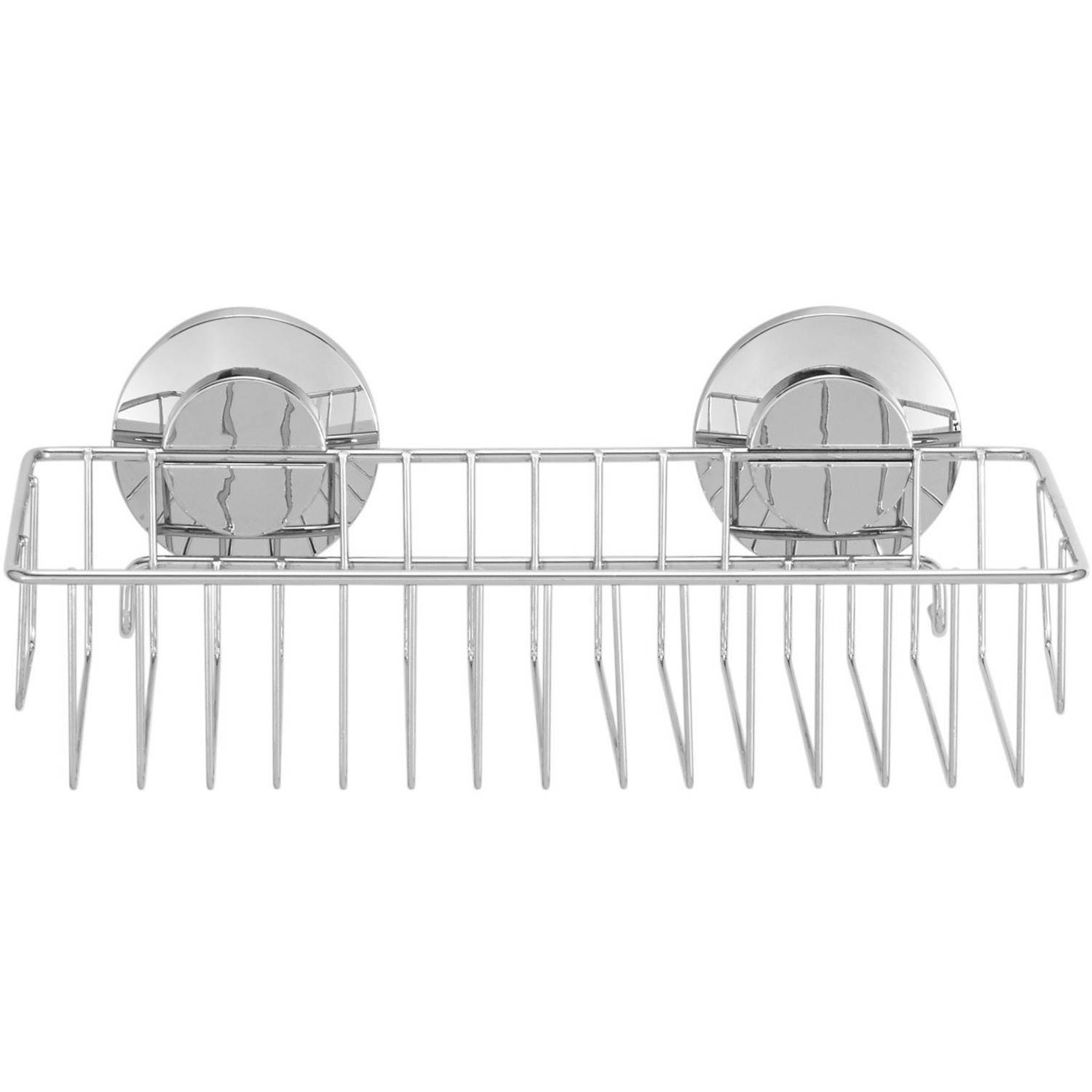 Everloc Push N' Loc Sucition Cup Shower Caddy Chrome with Chrome Cover by Generic