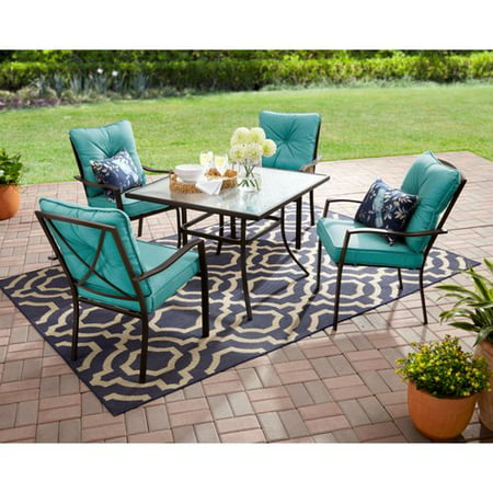 Mainstays Forest Hills 5-Piece Dining Set, Teal ()