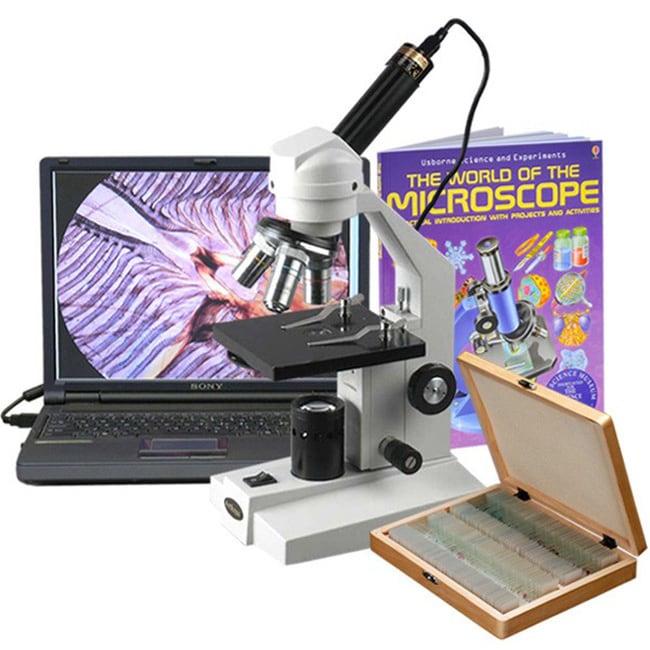 AmScope  40x-1000x Glass Optical Student Microscope