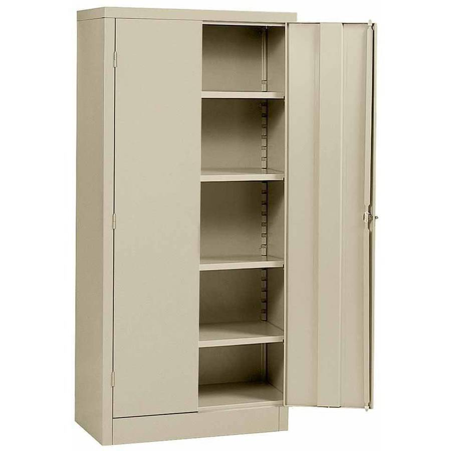 "Sandusky 36""L x 18""D x 72""H Steel Cabinet, Putty"