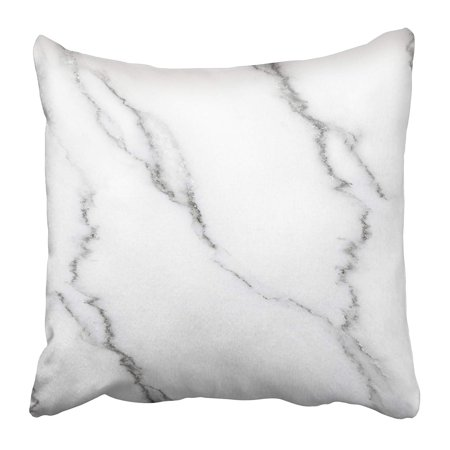 ARHOME Black Abstract White Marble with Natural Pattern for Design Work Gray Antique Cut Pillow Case Cushion Cover 18x18 inch