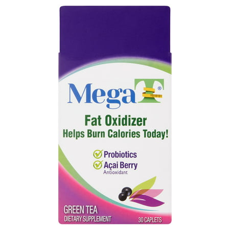 Mega-T Fat Oxidizer Green Tea Weight Loss Caplets, 30 (Best Tabata Exercises For Fat Loss)