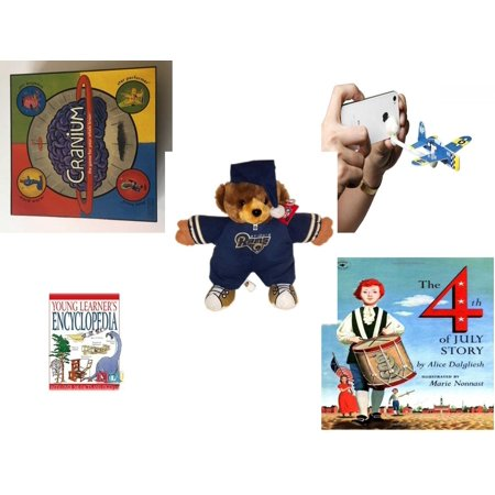 Children's Gift Bundle [5 Piece] -  2002 Cranium  - AppGear Foam Fighters Pacific Mobile App  iPhone Android - NFL St. Louis Rams Football Teddy Bear  11