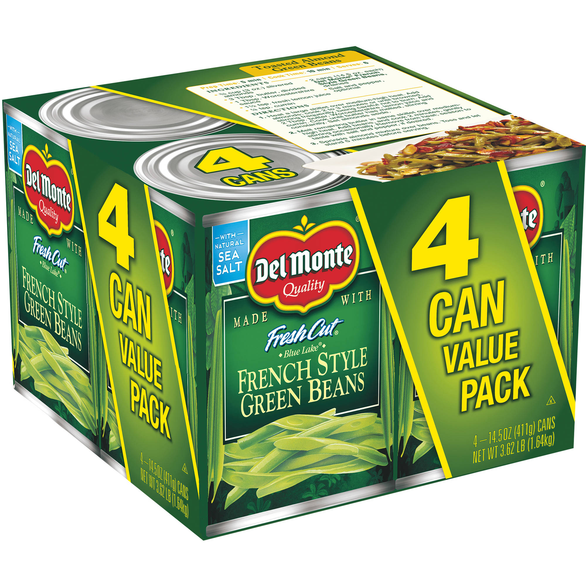 Del Monte Fresh Cut Blue Lake French Style Green Beans, 14.5 oz, 4 count