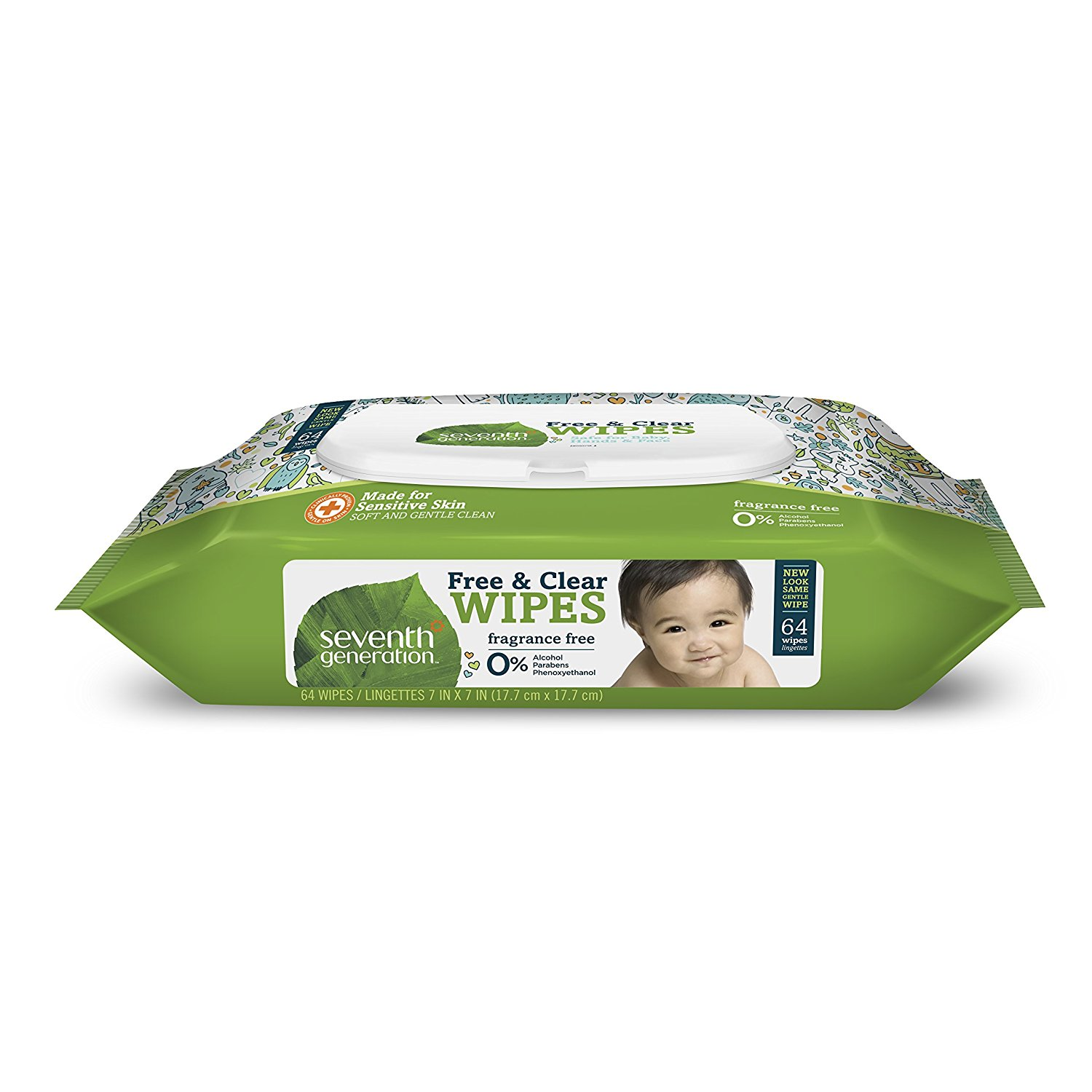 Thick & Strong Baby Wipes, 64 ct (Pack of 1), Water Fresh ALL Fits Protectors EXTRA Mattress Go Ginger Count Furniture Seventh Rechargeable Strong Lemon Powder Formula.., By Seventh Generation