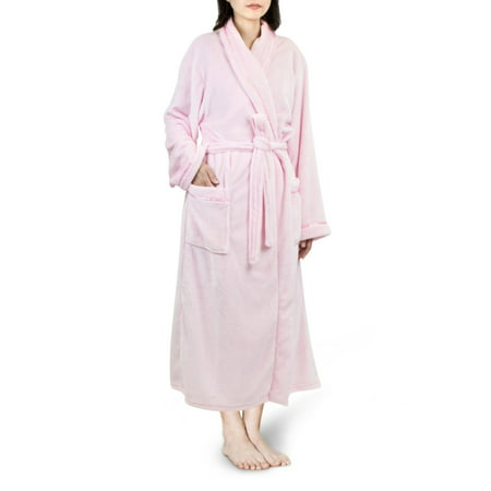 Premium Women Fleece Robe with Satin Trim | Luxurious Super Soft Plush (Fleece Print Robe)