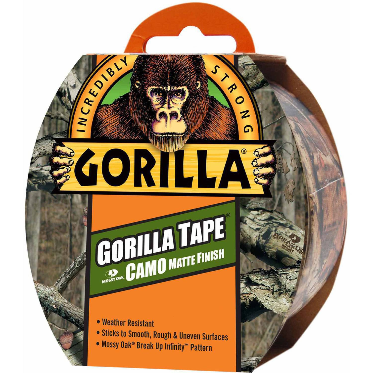 Gorilla Tape, Camo Matte Finish, 9 yds
