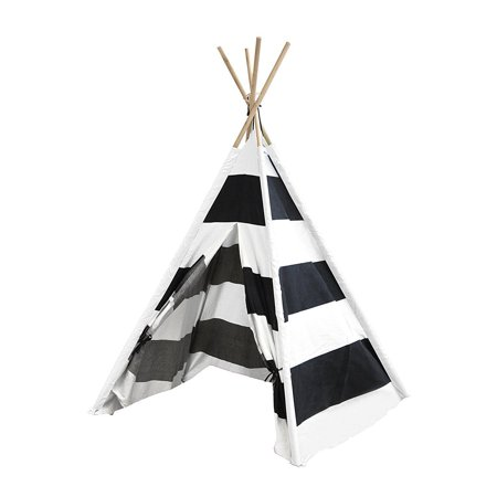the best attitude d33a3 53866 Porpora Indoor Indian Playhouse Toy Teepee Play Tent for Kids Toddlers  Canvas with Carry Case, Black Stripe