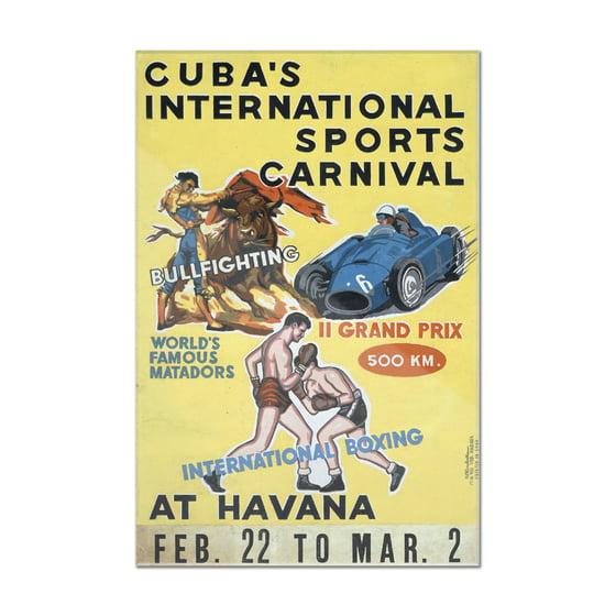 Cuba\'s International Sports Carnival (artist: Rivadulla) Cuba c ...