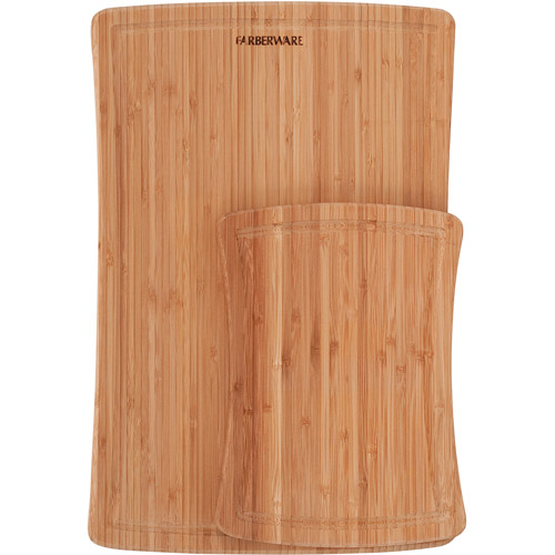 Farberware 2-Piece Bamboo Cutting Board Set With Drip Trench