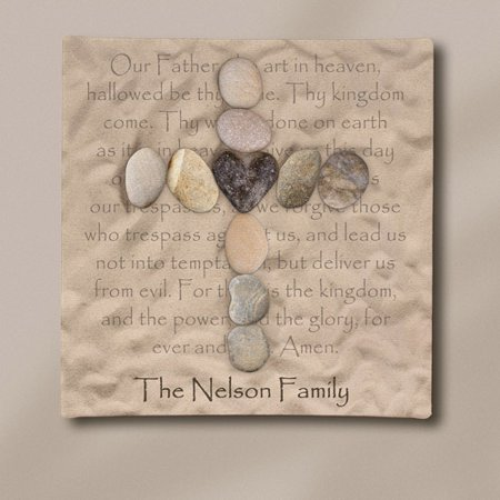 Personalized Stone Cross Canvas, 11
