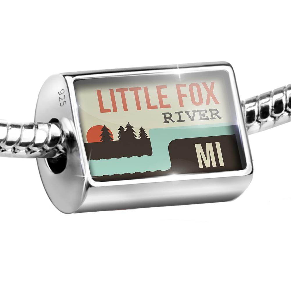 Bead USA Rivers Little Fox River - Michigan Charm Fits All European Bracelets