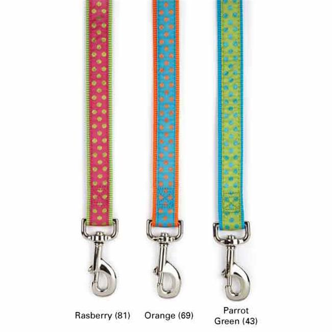 Easy Side Collection ZA8212 44 69 Polka Dot Lead 4 Ft x .63 In Orange