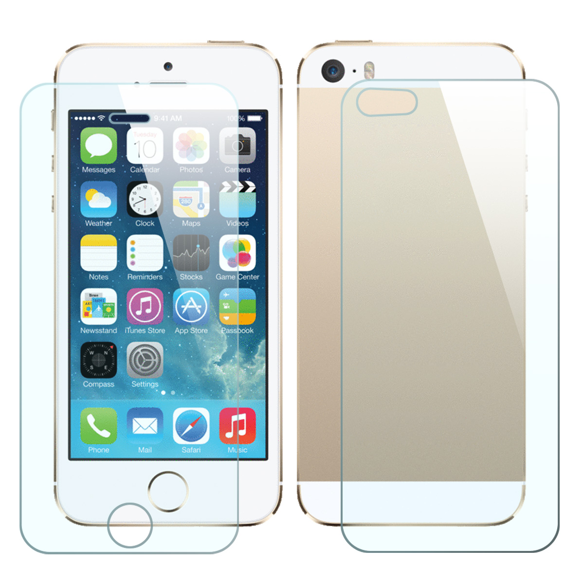 Front & Back 9H Tempered Glass Screen Protector for IPhone 5 / 5S