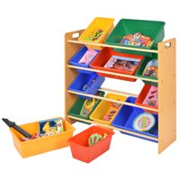 Costway Toy Bin Organizer Kids Childrens Storage Box Playroom  Shelf Drawer