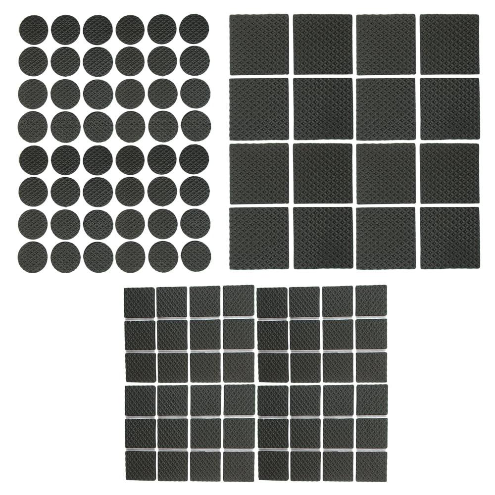 112 Heavy Duty Self Adhesive Pads Furniture Chair Floor Scratch Protectors Black