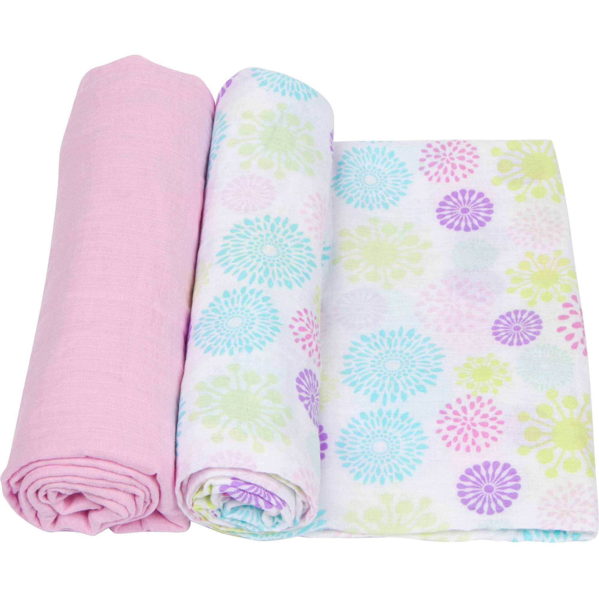 MiracleWare Muslin Cotton Swaddle, 2pk